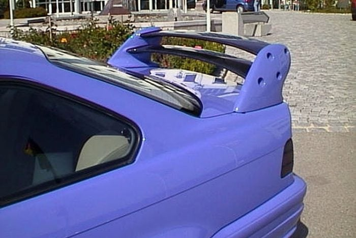 Kerscher Rear Wing 4 Part without Brakelight, fits BMW 3-Series E36 Coupe