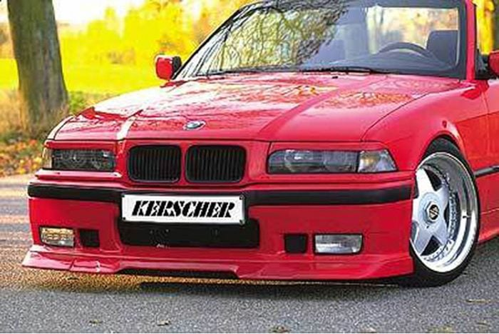 Kerscher Front Spoiler Splitter KMT fitting M3 and M3-Style, fits BMW 3-Series E36