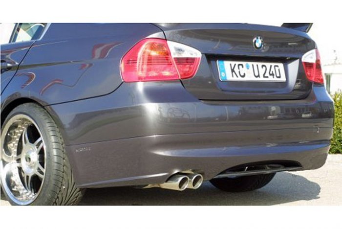 Kerscher Rear Bumper Extension Spirit with Carbon Insert, fits BMW 3-Series E90 08/08 (not 335i/d)
