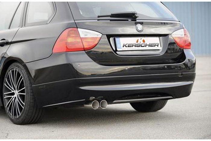 Kerscher Rear Bumper Extension Spirit for Exhaust Left with Carbon Insert, fits BMW 3-Series E91 08/08 (not 335i/d)