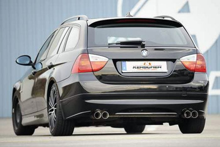 Kerscher Rear Bumper Extension Spirit for Exhaust Left-right with Carbon-Insert, fits BMW 3-Series E91 08/08 (not 335i/d)