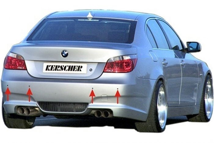 Kerscher Mounting Kit for Bumpers with PDC, fits BMW 5-Series E39