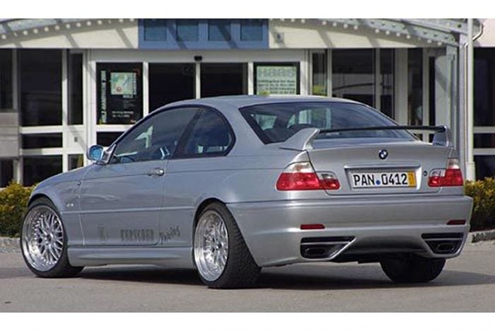 Kerscher Rear Bumper M-Line with PDC, fits BMW 3-Series E46