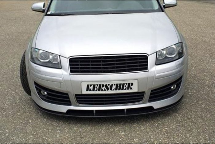 Kerscher Front Bumper K-Line with Headlamp Washers, fits Audi A3 8P