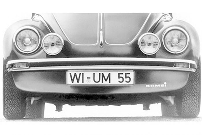 Kerscher Front Bumper, fits Volkswagen Beetle