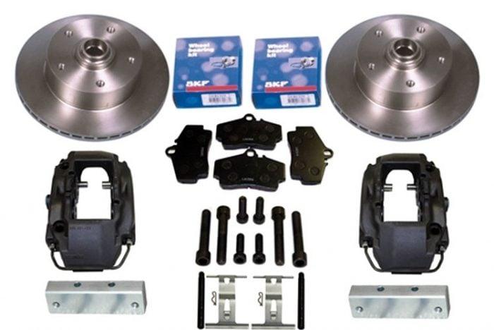 Kerscher Front Disc Brake Vented 4-Piston Porsche 130/5, fits Volkswagen Beetle