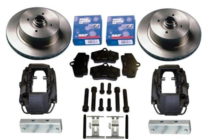 Kerscher Front Disc Brake Vented 4-Piston Porsche 100/4, fits Volkswagen Beetle