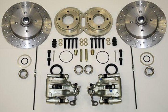 Kerscher Rear Disc Brake 130/4, Grooved and Drilled, fits Volkswagen Beetle