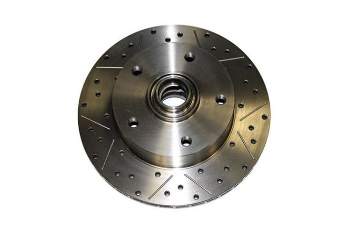 Kerscher Brake Disc Front Vented, Grooved and Drilled 130/5, fits Volkswagen Beetle