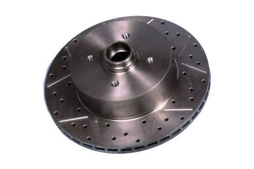 Kerscher Brake Disc Front Vented, Grooved and Drilled 100/4, fits Volkswagen Beetle