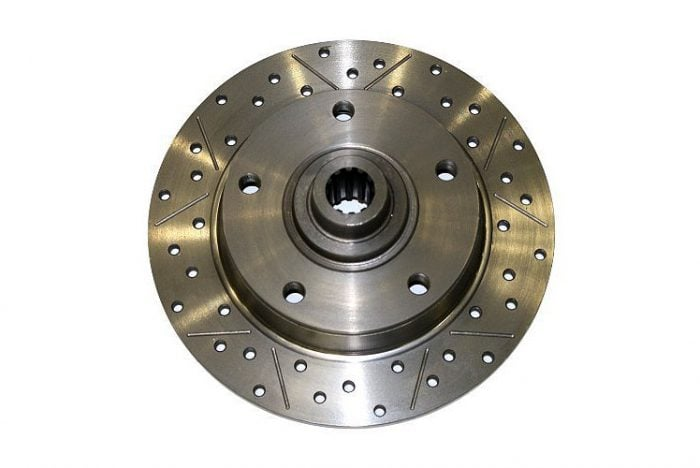 Kerscher Brake Disc Rear, Grooved and Drilled 130/5, fits Volkswagen Beetle