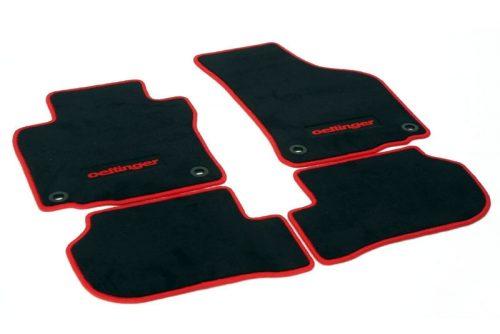 Oettinger Floor Mats - Black/Red, fits Volkswagen Golf GTI Mk7