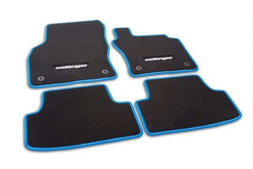 Oettinger Floor Mats - Black/Blue, fits Volkswagen Golf R Mk7
