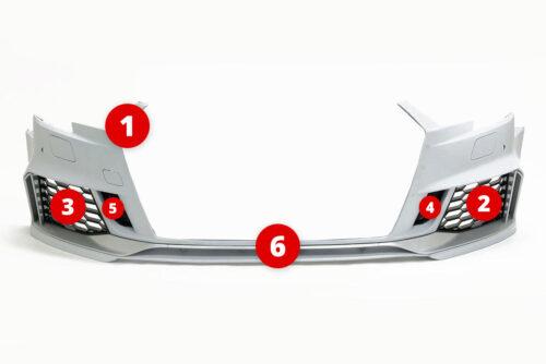 BKM Replacement Parts for BKM front bumper, fits Audi A3/S3 8V5