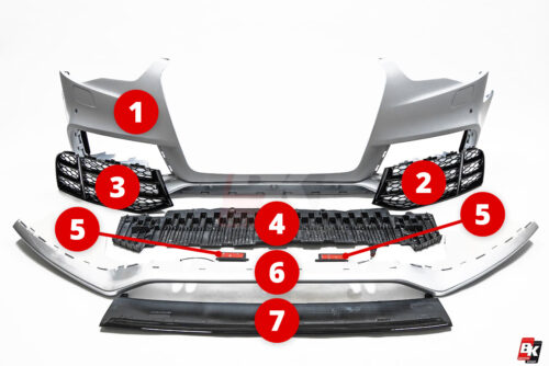 BKM Replacement Parts for BKM front bumper, fits Audi A5/S5 B8.5