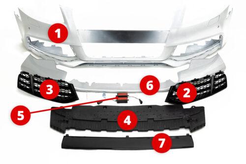 BKM Replacement Parts for BKM front bumper, fits Audi A5/S5 B8.0